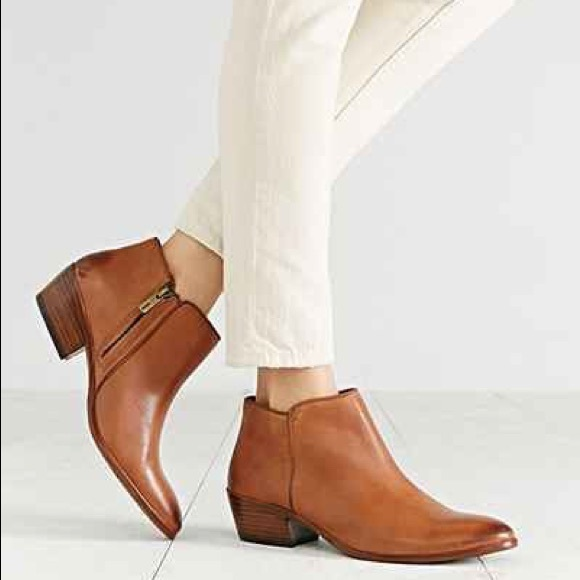 1d775e099d063 Sam Edelman Petty Saddle Leather Booties Sz 8
